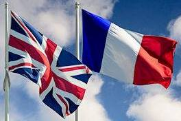 Twinning - French and UK Flags